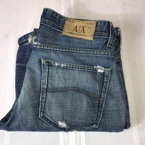 A/X Armani Exchange Destroyed Jeans Sz 30